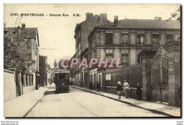 CPA Montrouge Grande Rue E M Tramway - Montrouge