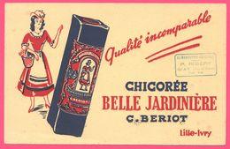BUVARD Illustré - BLOTTING PAPER - Chicorée Belle Jardinière C. BERIOT LILLE - P. RIBERY GIAT - Café & Thé