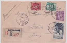 LSC - REC. De CHATEAUROUX / 4.12.1948 - Marcophilie (Lettres)