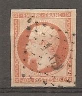 Yv. N° 16  (o)  40c  Orange Napoléon III  Cote  22 Euro BE   2 Scans - 1853-1860 Napoleon III