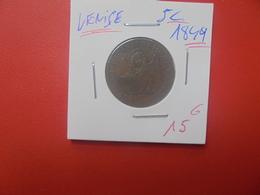 VENISE 5 CENT 1849 (A.6) - Regional Coins