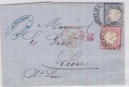 LSC - T. 1G Et 2G Brustschild OBL. Fer à Cheval De MULHOUSE - 26 JANV 73 - Marcophilie (Lettres)