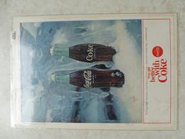Affiche Publicitaire Coca Cola 25cm Sur 16 ( Bouteille )   1964 Copyright / Reclamaffiche Cola - Poster & Plakate