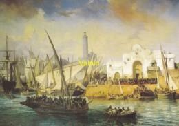 Embarquement Des Zouaves Partant D' Alger Pour La Crimée  Vincent Courdouan - Peintures & Tableaux
