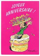 Joyeux Anniversaire - Gateau Gaston LAGAFFE N° 226 - Franquin - Ed. DALIX - Marsu 1993 - Compleanni