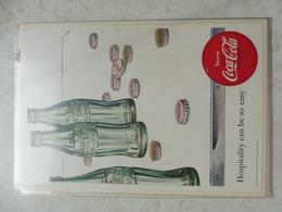 Affiche Publicitaire Coca Cola 25cm Sur 16 ( Bouteille )   1952 Copyright / Reclamaffiche Cola - Afiches Publicitarios