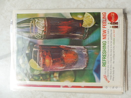 Affiche Publicitaire Coca Cola 25cm Sur 16  -( Bouteille ) 1962 Copyright / Reclamaffiche Cola - Afiches Publicitarios