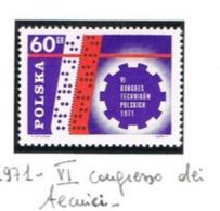 POLONIA (POLAND) - SG 2083 - 1971 POLISH TECHNICAL CONGRESS   - MINT** - RIF. CP - 1944-.... Repubblica