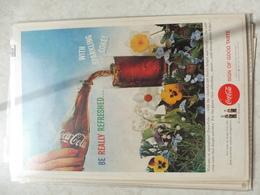 Affiche Publicitaire Coca Cola 25 Cm Sur 16  -( Bouteille ) 1959 Copyright / Reclamaffiche Cola - Afiches Publicitarios