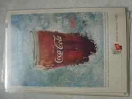 Affiche Publicitaire Coca Cola 25 Cm Sur 16  -( Verre ) 1959 Copyright / Reclamaffiche Cola - Afiches Publicitarios