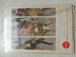 Affiche Publicitaire Coca Cola 25 Cm Sur 16  -( Salon ) 1957 Copyright / Reclamaffiche Cola - Afiches Publicitarios