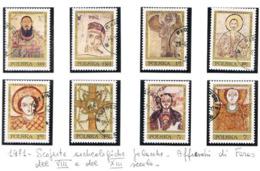 POLONIA (POLAND) - SG 2050.2057  - 1971 FRESCO OF FARAS, NUBIA   (COMPLET SET OF 8)   - USED° - RIF. CP - 1944-.... Repubblica