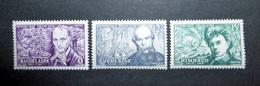 FRANCE 1951 N°908 À 910 ** (POÈTES SYMBOLISTES) - Unused Stamps