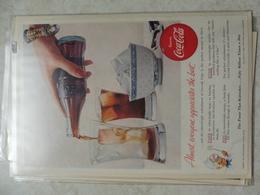 Affiche Publicitaire Coca Cola 25 Cm Sur 16  ( Bouteille ) 1955 Copyright / Reclamaffiche Cola - Afiches Publicitarios