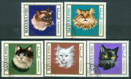 Bm Manama 1968 MiNr 107-111 A Used | Cats - Manama