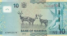 NAMIBIA P. 16 10 D 2015 UNC - Namibie