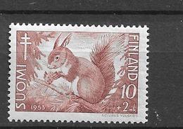 1953 MNH Finland Squirrel, Mi 416, Postfris** - Autres