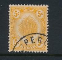 MALAYA, Postmark PERLIS On KEDAH Stamp - Kedah