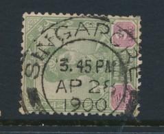 MALAYA, Postmark Singapore On Johore Stamp - Johore
