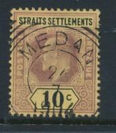 STRAITS SETTLEMENTS, Postmark Medan (Used In Netherlands Indies) - Straits Settlements