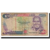 Billet, Zambie, 100 Kwacha, KM:34a, TB+ - Zambie