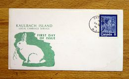Canada 1974 Illustrated First Day Cover FDC Kaulbach Island Local Carriage Service. - 1952-.... Regno Di Elizabeth II
