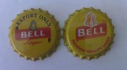 Bell  Beer Caps X 2 (UNUSED) - Bière