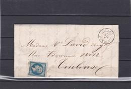 SAINT BEAT ( Hte-GARONNE ) PC 3001  -  LAC +   N° 14 B Pour TOULOUSE  - 4 NOV. 1864 - REF 13712-IND 6 - Postmark Collection (Covers)