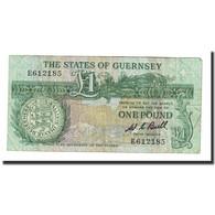 Billet, Guernsey, 1 Pound, Undated (1991), KM:48a, TTB - Guernsey