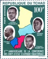 Ref. 263077 * NEW *  - CHAD . 1964. 5TH ANNIVERSARY OF THE AFRICAN HEADS OF STATE CONFERENCE. 5 ANIVERSARIO DE LA CONFE - Ciad (1960-...)