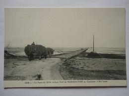LA PASSE DU GOA COTE BARBATRE RELIANT L'ILE DE NOIRMOUTIER AU CONTINENT A MER BASSE - Ile De Noirmoutier