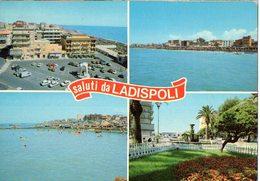 SALUTI DA LADISPOLI - VEDUTINE  - VG FG - C205 - Altri