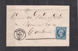 SAINT GAUDENS  ( Hte-GARONNE ) PC 3072  -  LSC +   N° 14 B Pour TOULOUSE  - 16 MARS 1860 - REF 13712+CACHET O R - Postmark Collection (Covers)