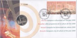 Numisletter 2882 à 2884 Bruxelles Ville Européenne De La Culture - Numisletters