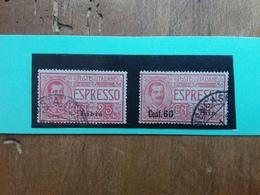 COLONIE ITALIANE - LIBIA - Espressi Nn. 1-5 Timbrati + Spese Postali - Libya