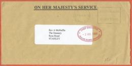 FALKLAND LETTRE DE SERVICE DE 2001 DE STANLEY - Falkland