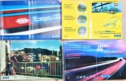 SUISSE.LOT DE 4 Pochettes Pour Recevoir Les Abonnements Des C.F.F .trains Suisses - Abonnements Hebdomadaires & Mensuels