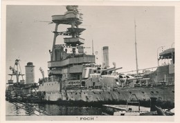 Le Croiseur Foch Navire Bateau De Guerre War WW2 Suffren Marin Marin Militaria - Guerre, Militaire