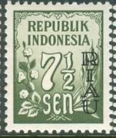 INDONESIA INDONESIË RIAU 1954  ZBL 2 OVERPRINTED MNH ** NEUF POSTFRIS - Indonesia