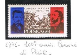 POLONIA (POLAND) - SG 2046 - 1971 PARIS COMMUNE CENTENARY    - MINT** - RIF. CP - 1944-.... Repubblica