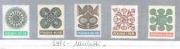 POLONIA (POLAND) - SG 2073.2077 - 1971 FOLK ART: PAPER CUT-OUTS (COMPLET SET OF 5)   - MINT** - RIF. CP - 1944-.... Repubblica