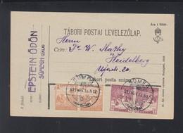 Hungary PC 1919 Sümeg To Heidelberg - Ungarn