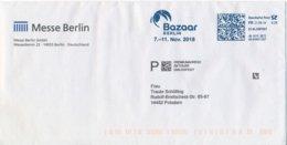 BRD Berlin Frankit FR Dialogpost Premiumadress Bazaar Papagei 2018 Messe Berlin Brandenburger Tor - Affrancature Meccaniche Rosse (EMA)