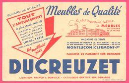 BUVARD Illustré - BLOTTING PAPER - DUCREUZET Meubles - Magasins Montluçon - Clermont - Imp. DIEBOLD MOURLON - Buvards, Protège-cahiers Illustrés
