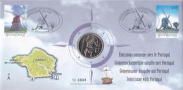 Numisletter 3091 3092 Moulin émission Commmune Avec Le Portugal - Numisletters