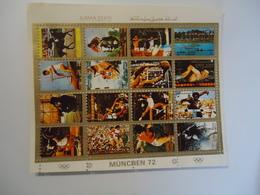 AJMAN  USED  STAMPS   MINI  SHEET  SPORTS OLYMPIC GAMES  MUNICH 1972 - Summer 1972: Munich