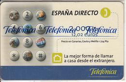 SPAIN - Espana Directo, Telefonica Prepaid Card 2000Pta/12.02 Euros, Tirage 10500, 06/00, Mint - Telefonica
