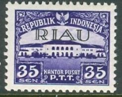 INDONESIA INDONESIË RIAU 1954  ZBL 8  OVERPRINTED MNH ** POSTFRIS NEUF - Indonesia