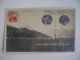 POST CARD LE 23 SEPTEMBRE 1910 GEO CHAVEZ FRANCHIT LES ALPES EN AEROPLANE IN THE STATE - Aviateurs