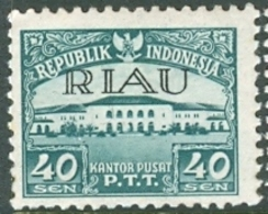 INDONESIA INDONESIË RIAU 1954  ZBL 9 OVERPRINTED MNH ** POSTFRIS NEUF - Indonesia